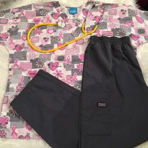 Scrub Bundle! Top & High Waist Multi Pocket Pants!